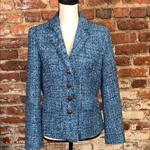 J. Mclaughlin Tweed Like Blazer US6 blue